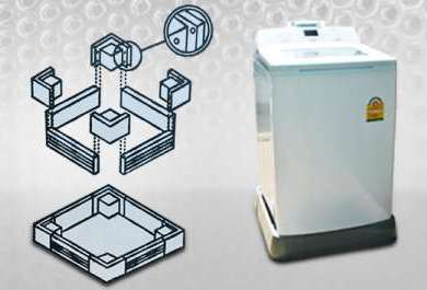 วิธีประกอบขาตั้งเครื่องซักผ้า-ประกอบขาตั้งให้ได้ขนาดตามเครื่องฯ